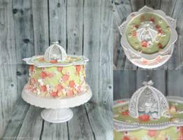 Caged Flower Cake by ginkgografix