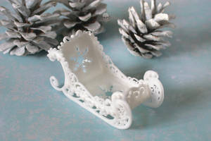 Royal Icing Sleigh by ginkgografix