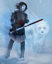 Snow White Walker by Erin-E-Brown