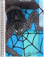 Black spider man by jpbijos