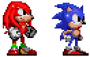 Sonic 1, CD and 2 style Knuckles by geno2925