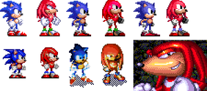 Knuckles Mega Collection (and Knuckles) by geno2925
