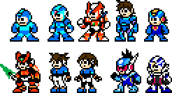 Mega Man Heroes by geno2925
