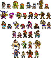 Street Fighter x Mega Man Improved Sprites by geno2925