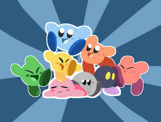Kirby mains by Implosion-Explosion