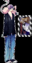 Murasakibana + Espeon by BastisHasi