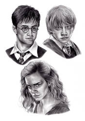 Harry, Ron and Hermione by kad84