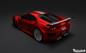 Ferrari F430 GTR Red_Rear by TheSaladMan
