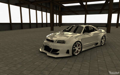 Nissan Skyline GT-R Warehouse by TheSaladMan