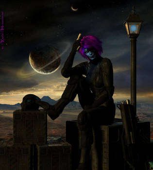 Space Girl by KaanaMoonshadow