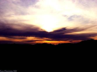 the sun sets by KaanaMoonshadow