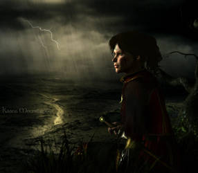 Rain and Lightning by KaanaMoonshadow