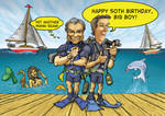 Baz and Simon on the Dock by sethness