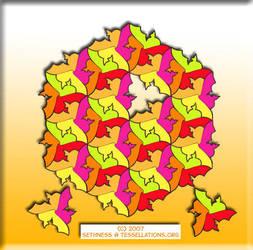 Tessellation: three goldfish by sethness