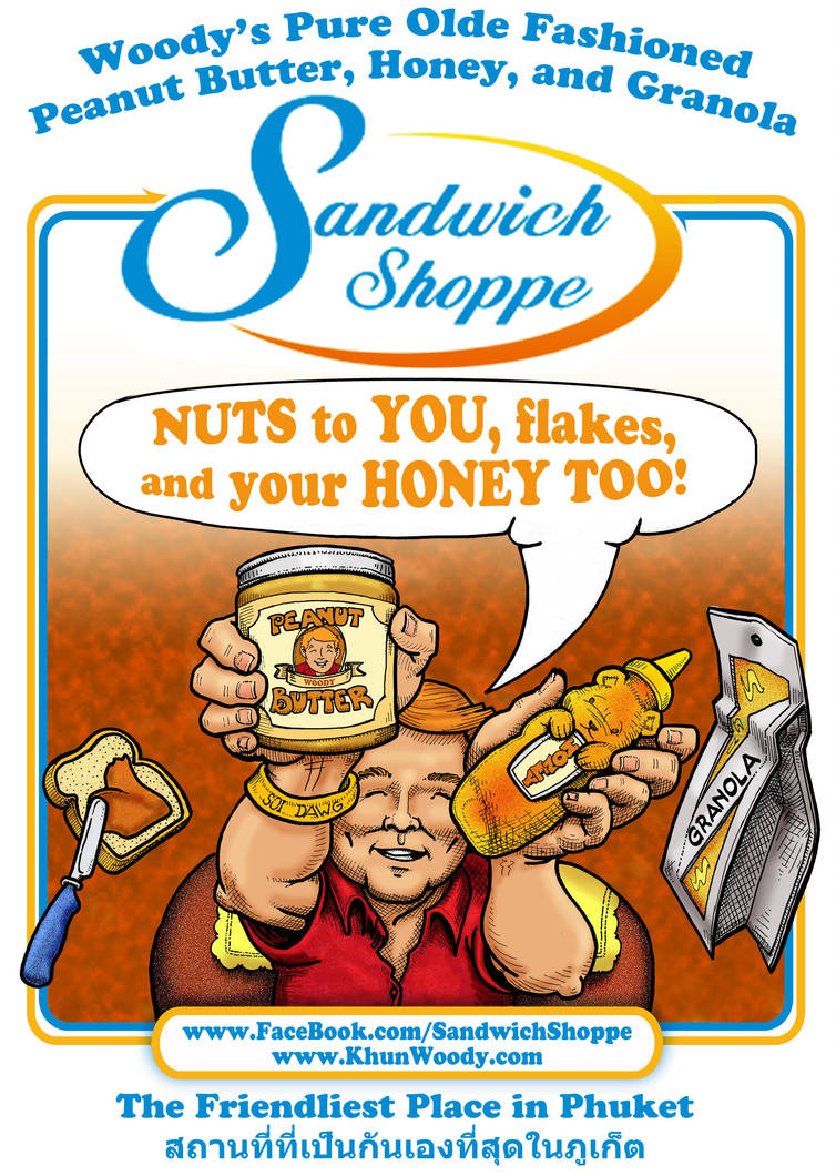 Sandwich Shoppe Ad: Nuts to you! by sethness