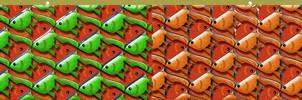Stereogram Goldfish Tessellation by sethness