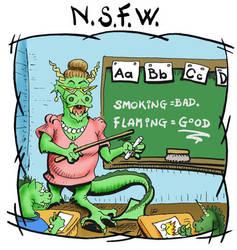 NSFW: Smoking bad flaming good by sethness