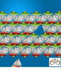 Tessellation: Sailboats by sethness