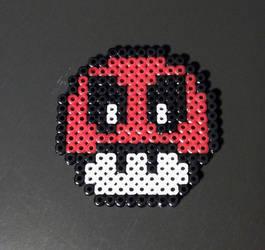 Mario Mushroom MIDI Perler Beads by ainhi90