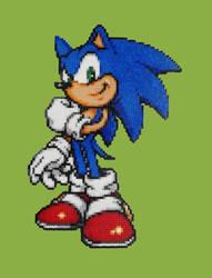 Sonic MINI Perler Beads by ainhi90