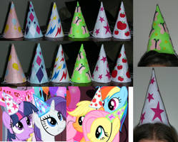 My Little Pony Party Hats by RedCrosseKnight