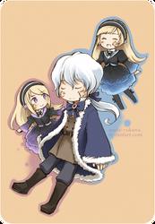 Violette, Hortense, and Hiver by arashi-yukawa