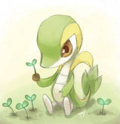 Pokemon-Practicing Leech Seed by arashi-yukawa