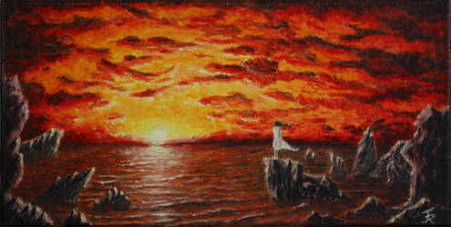Sunset over the Sea by Friedemann-Reim