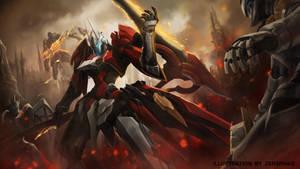 Reaper on Fire by zersphaiz