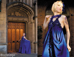 Blue princess gown by Shiya