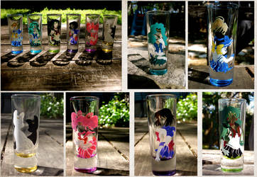 Outer Sailor Scout Shot Glasses by AstroRobyn