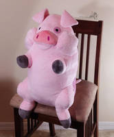 Sitting Waddles the Pig by HollyIvyDesigns