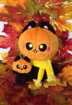 OC: Pumpkin Kitty by HollyIvyDesigns