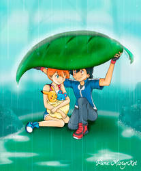 Under the Rain... Together by AngelLarc
