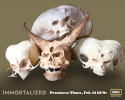 Space Alien Skulls, Poster, AMC TV, IMMORTALIZED by searabbit23