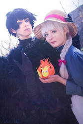 Howl and Sophie by LilaaLeluu