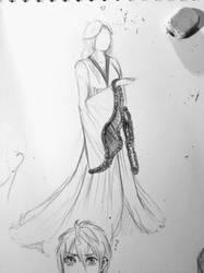 Robe sketch by LilaaLeluu