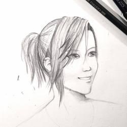 Sketch of myself by LilaaLeluu