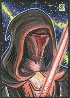 Darth Revan sketch card 2 by Reznorix