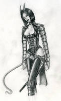 Tiefling Armour Sketch by Mistresselysia