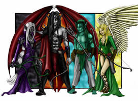 Elven Subrace Cartoon- final by Mistresselysia