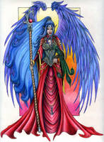 Aasimar - coloured by Mistresselysia