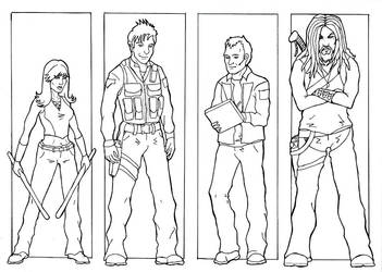 SGA Team - inks by Mistresselysia