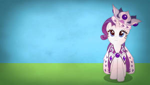 Fairly simple pony wallpapers - Rarity by Poowis
