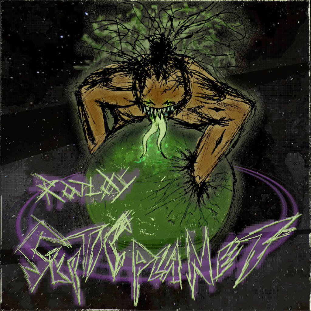 Rotlos - Septic Planet - album artwork by Poowis