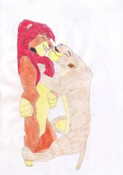 Simba and Nala by Oliverw-b