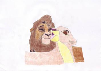 Kiara and Kovu, The Lion Kng 2 by Oliverw-b