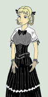 Melian Fixed Black Dress by Magictron3000