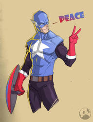 Captain Peace by COLOR-REAPER