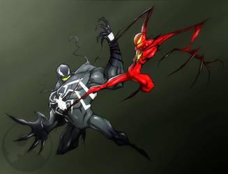 Venom VS Carnage by COLOR-REAPER